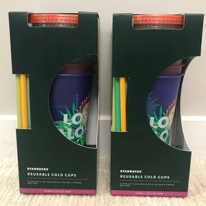 Set of 2 Starbucks Hawaii Collection Reusable Cups